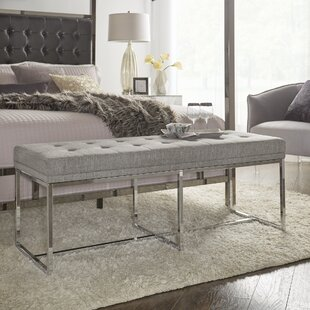 Fadrique Contemporary Solid Tufted Top Metal Metal Bedroom Bench