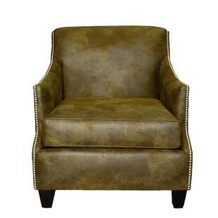 Loon Peak Rice Leather Club Chair