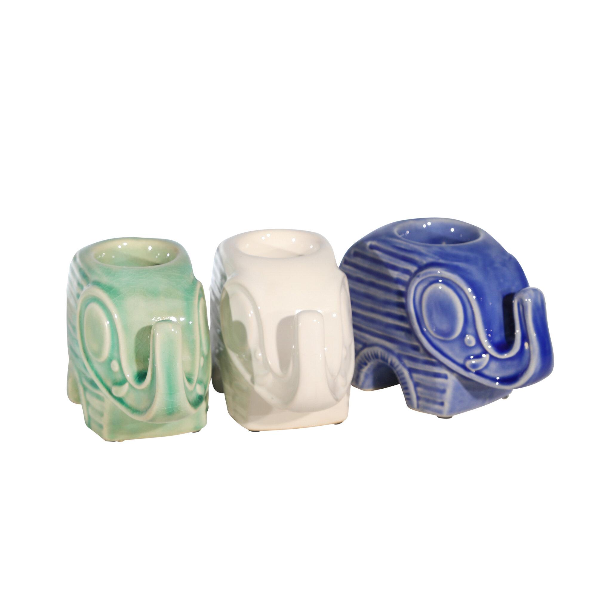 World Menagerie Tyreece Small Ceramic Tealight Holder Wayfair