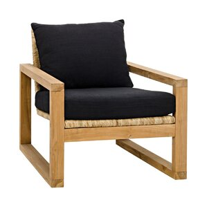 Martin Teak with Hand-Woven Fabric Armchair ..