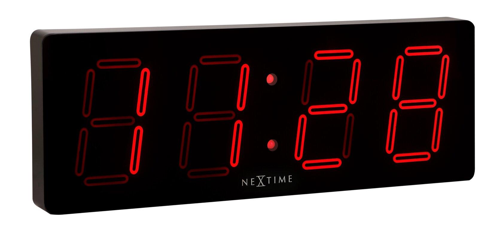 Nextime unek goods digital wall clock reviews wayfair unek goods digital wall clock amipublicfo Gallery