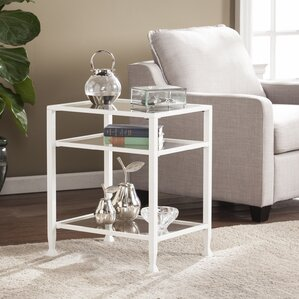 Casas Metal/Glass End Table by Orren Ellis