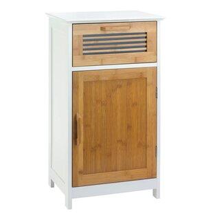 Attirant Tetrault Bamboo Floor 1 Drawer Accent Cabinet
