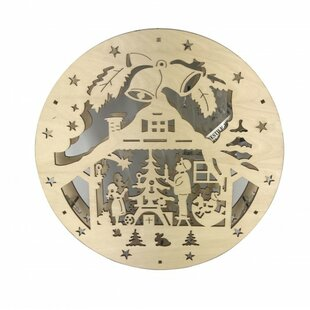 Outdoor Nativity Sets Lighted Outdoor nativity set lighted wayfair plywood laser cut nativity set with lights workwithnaturefo