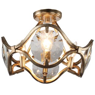 Geil 4-Light Semi Flush Mount by Everly Quinn