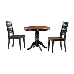 Cedarville 3 Piece Solid Wood Dining Set Alcott Hill