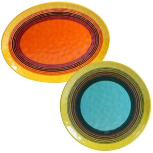 Sedona 2 Piece Heavy Weight Melamine Platter Set