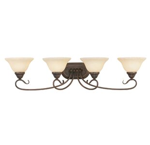 Top Reviews Lewisboro 4-Light Vanity Light By Darby Home Co