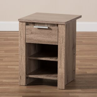 Great deal Tellier 1 Drawer Nightstand by Union Rustic