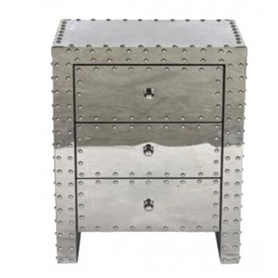 17 Stories Ankara 3 Drawer Nightstand