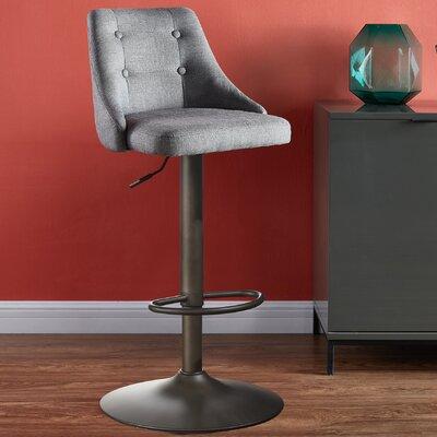 Awe Inspiring Brayden Studio Judkins Adjustable Height Bar Stool Ncnpc Chair Design For Home Ncnpcorg