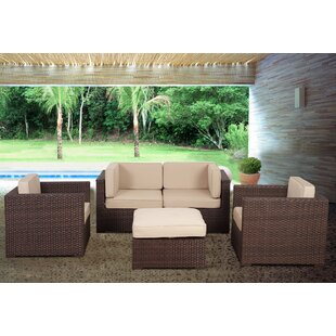 St.Tropez 5 Piece Sectional Set With Cushions by International Home Miami 2019 Coupon