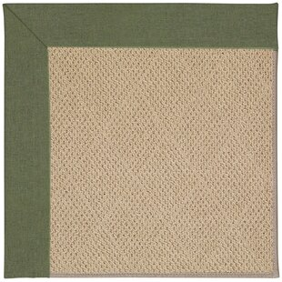 Lisle Machine Tufted Plant Green and Beige Indoor/Outdoor Area Rug