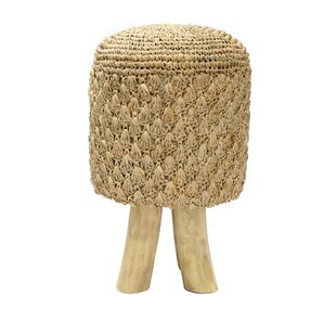 The Raffia Tressed Stool By Bazar Bizar