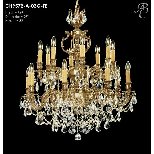 Astoria Grand Soderberg 16 Light Candle Style Classic Traditional Chandelier Wayfair