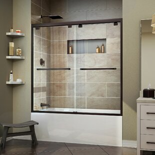 Great Price Encore 56 - 60 x 58 Bypass Semi Frameless Tub Door with Clearmax™ Technology ByDreamLine
