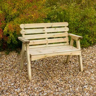 Hampden Wooden Bench By Sol 72 Outdoor