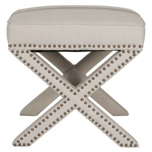 Nellie Nail Head Trimmed Ottoman by House of Hampton