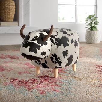 Mistana Anahi Cow Ottoman & Reviews | Wayfair
