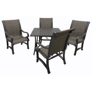 Red Barrel Studio Griffeth 5 Piece Metal Dining Set