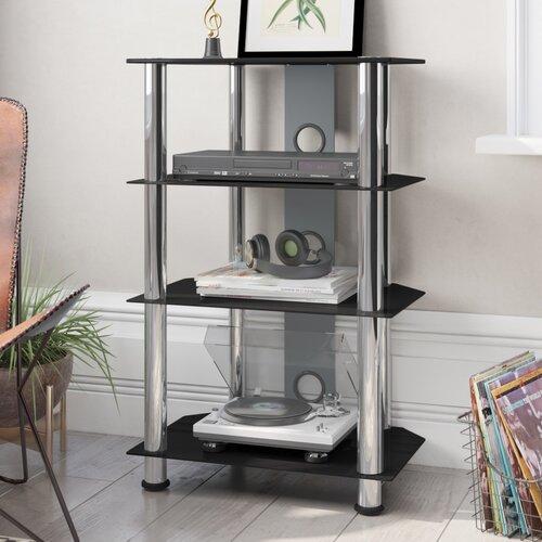 HiFi-Rack | Wohnzimmer > TV-HiFi-Möbel > HiFi-Racks | Schwarz/silber | Aluminium | ClearAmbient