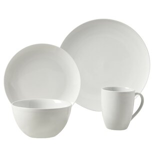 Adam 16 Piece Dinnerware Set Service for 4  sc 1 st  AllModern : white dinnerware sets service for 12 - pezcame.com