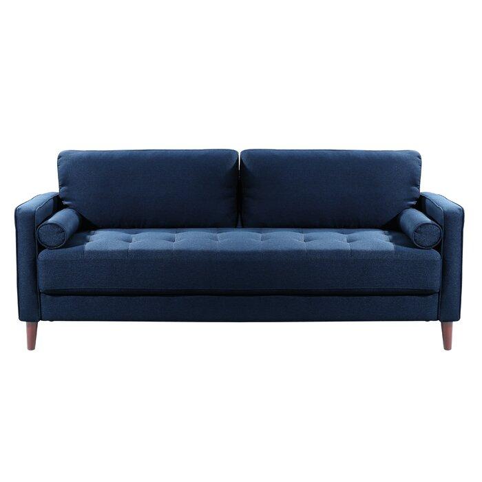 Garren 75.6″ Square Arm Sofa: couch