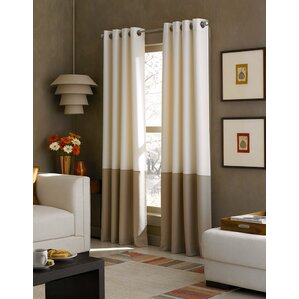 Kendall Solid Semi Sheer Grommet Single Curtain Panel