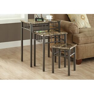 Find the perfect White Oak 3 Piece Nesting Tables ByAndover Mills
