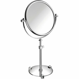 Dinsmore Round Double-Sided Makeup/Shaving Mirror ByDarby Home Co