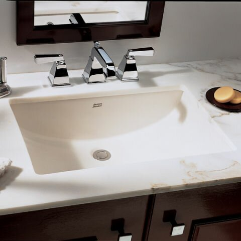 Undermount Bathroom Sink american standard studio rectangular undermount bathroom sink with