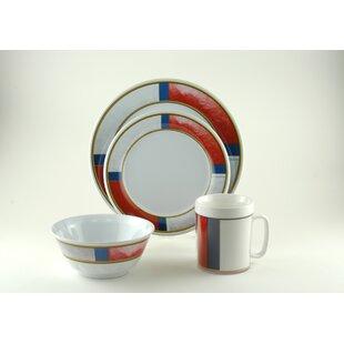 Decorated Life Preserver Melamine 24 Piece Dinnerware Set, Service for 6