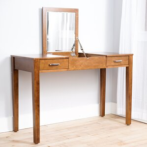 Haven Home Vanity Desk with Mirror Combo  Wayfair