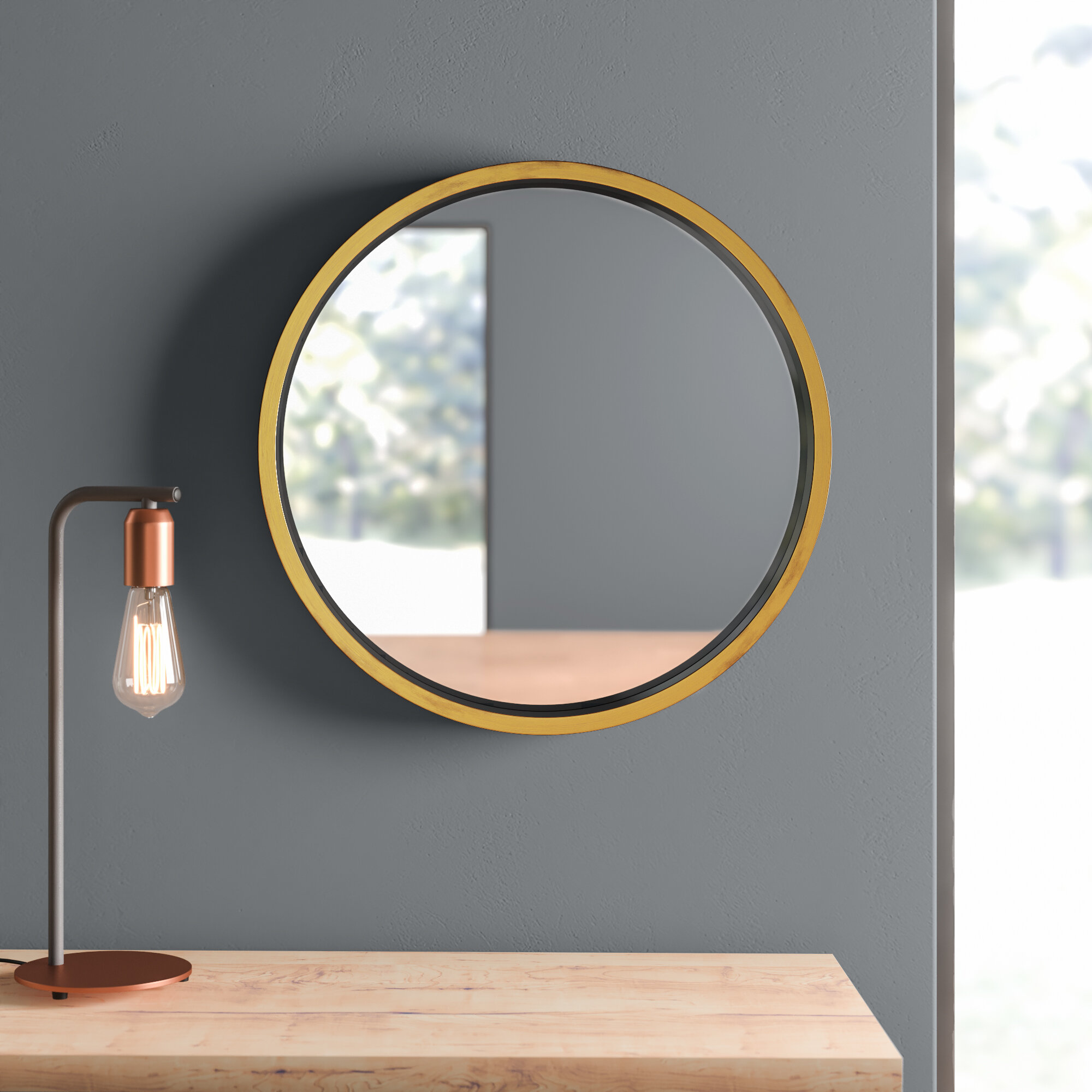 Houten Modern Contemporary Bathroom Vanity Mirror Reviews Allmodern