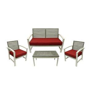 4 piece acacia wood outdoor furniture set - Outdoor Set
