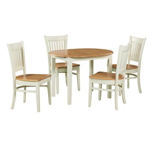 Shippy 5 Piece Extendable Solid Wood Dining Set