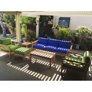 Lorenzo 6 Piece Teak Sunbrella Sofa Set with Cushions