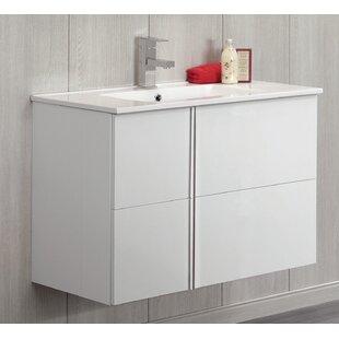 Best Reviews Miguel 32 Wall-Mounted Single Bathroom Vanity ByOrren Ellis