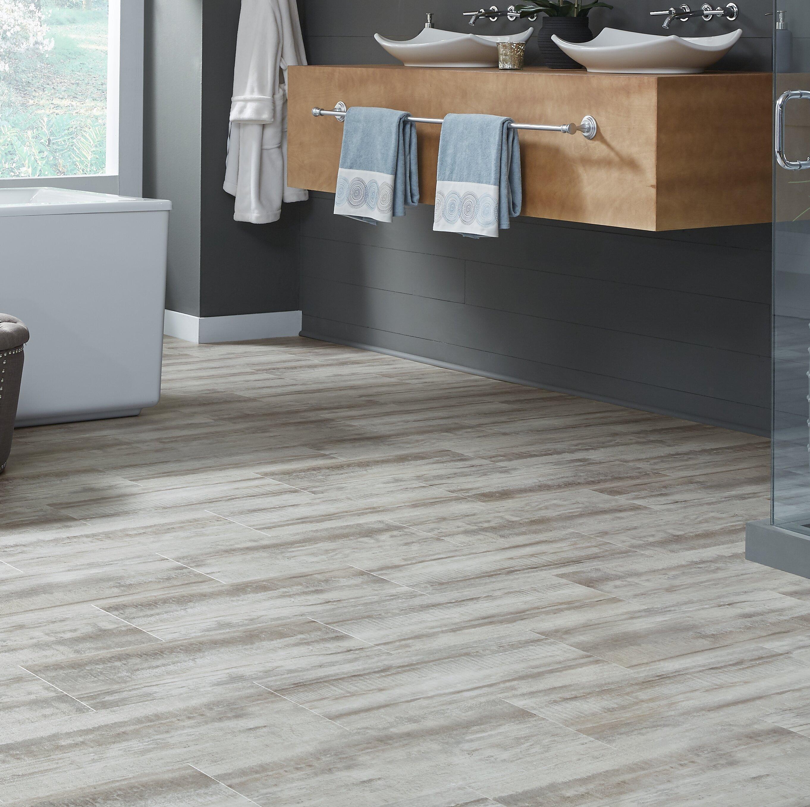 Mannington adura flex cape may shell glue down 12 x 24 x 2 5mm luxury vinyl tile in gray wood wayfair