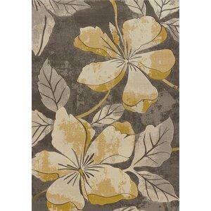 Ganley Floral Canvas Area Rug