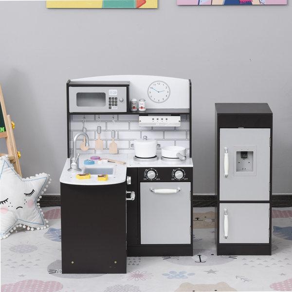 Qaba Kids Cooking Toy Kitchen Set Reviews Wayfair