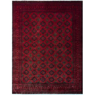 Robby Hand-Knotted Wool Red Area Rug ByBloomsbury Market