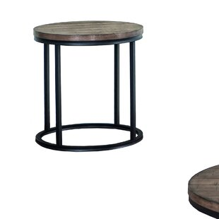 Brockman Barrel End Table By Williston Forge