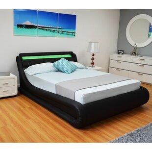 The Collection German Furniture Upholstered Storage Platform Bed