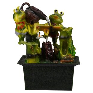 Enyeart Battery Frogs Ceramic Fountain By Sol 72 Outdoor