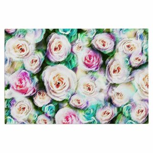 Dawid Roc Bright Rose Floral Abstract Floral Doormat