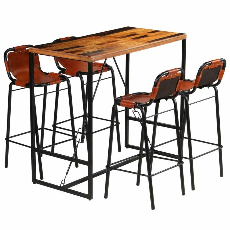 Williston Forge Essgruppe Bovee mit 4 Stühlen