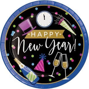 Frostley New Year Paper Dessert Plate (Set of 24)