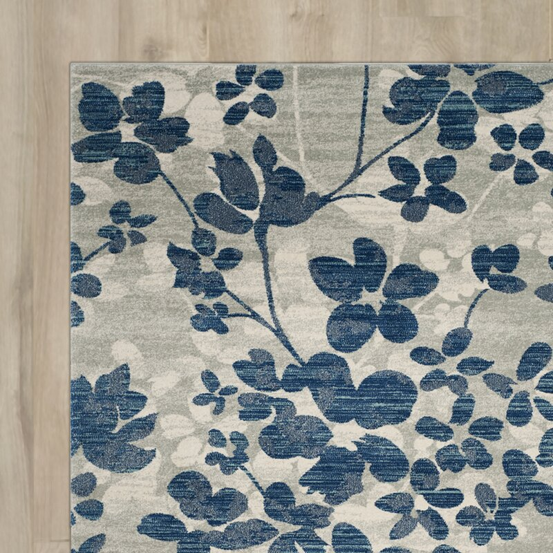 Aegean Gray Light Blue Area Rug