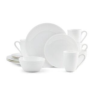 Loria 16 Piece Bone China Dinnerware Set, Service for 4